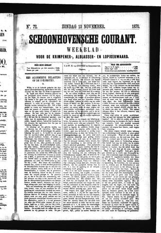 Schoonhovensche Courant 1870-11-13