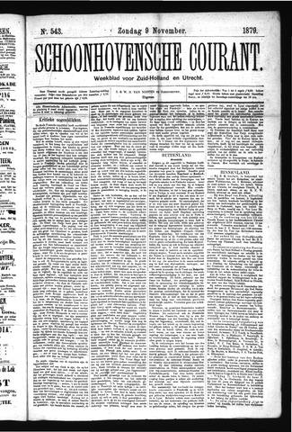 Schoonhovensche Courant 1879-11-09