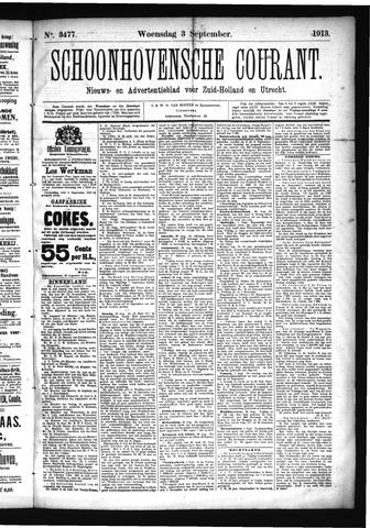 Schoonhovensche Courant 1913-09-03