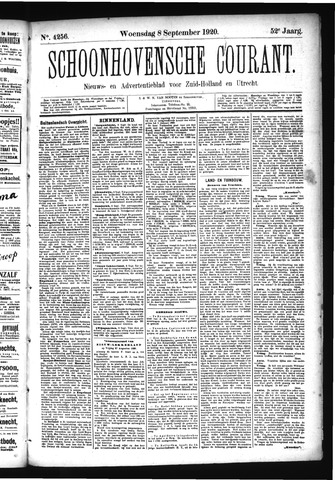 Schoonhovensche Courant 1920-09-08