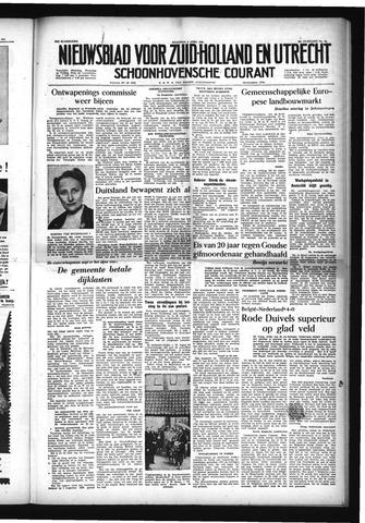 Schoonhovensche Courant 1954-04-05
