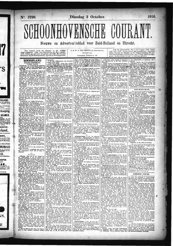 Schoonhovensche Courant 1916-10-03