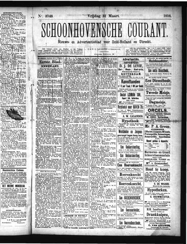 Schoonhovensche Courant 1916-03-31