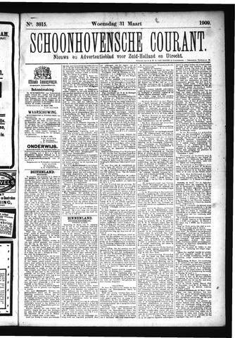 Schoonhovensche Courant 1909-03-31