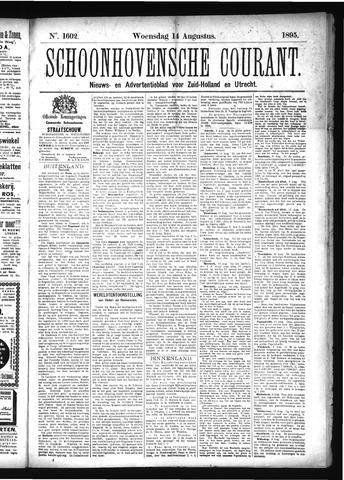 Schoonhovensche Courant 1895-08-14