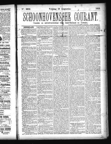 Schoonhovensche Courant 1915-08-13