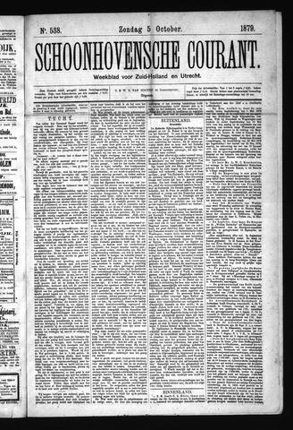 Schoonhovensche Courant 1879-10-05