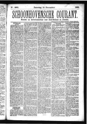 Schoonhovensche Courant 1908-12-12