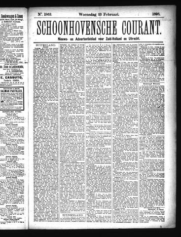 Schoonhovensche Courant 1898-02-23