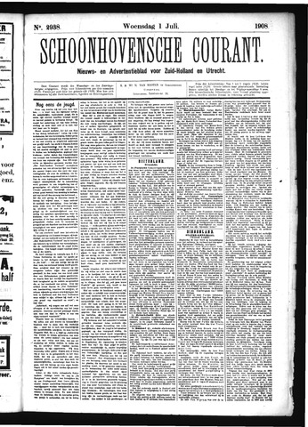 Schoonhovensche Courant 1908-07-01
