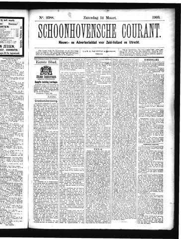 Schoonhovensche Courant 1903-03-14