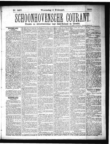Schoonhovensche Courant 1913-02-05