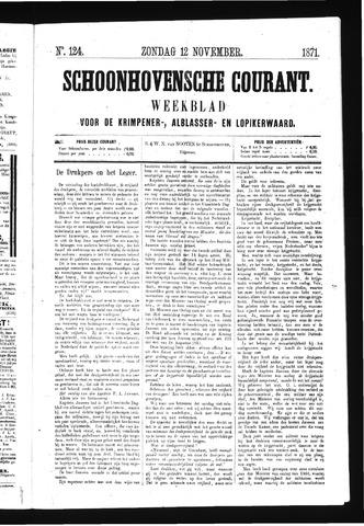 Schoonhovensche Courant 1871-11-12