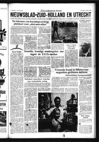 Schoonhovensche Courant 1963-08-07