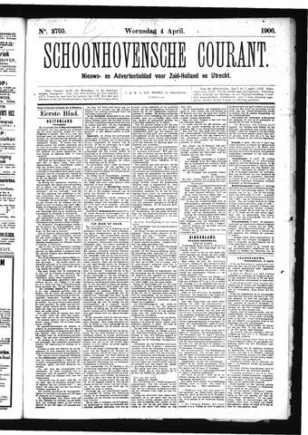 Schoonhovensche Courant 1906-04-04
