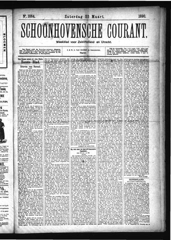 Schoonhovensche Courant 1890-03-22