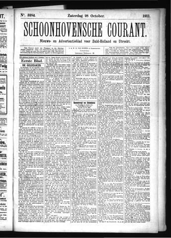 Schoonhovensche Courant 1911-10-28