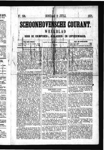 Schoonhovensche Courant 1871-07-02