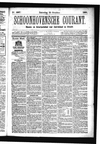 Schoonhovensche Courant 1908-10-10