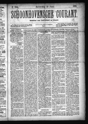 Schoonhovensche Courant 1889-06-15