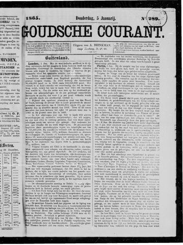 Goudsche Courant 1865-01-05
