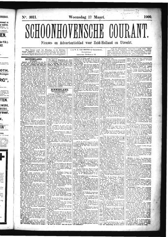 Schoonhovensche Courant 1909-03-17