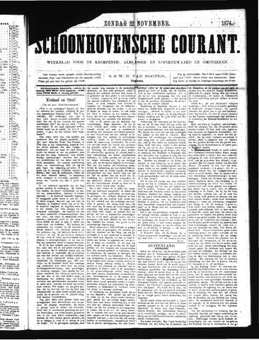 Schoonhovensche Courant 1874-11-22