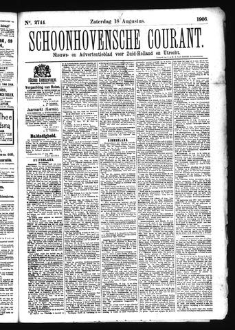 Schoonhovensche Courant 1906-08-18