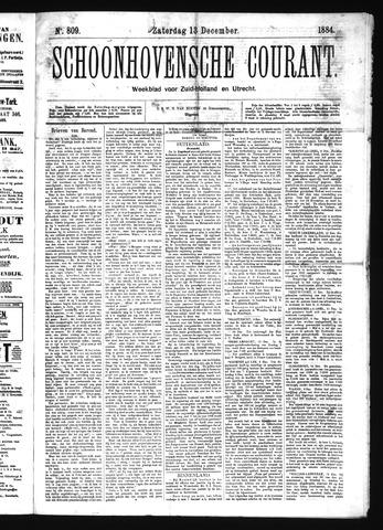 Schoonhovensche Courant 1884-12-13