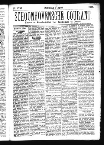 Schoonhovensche Courant 1906-04-07