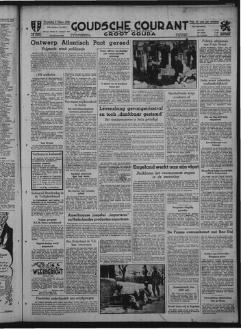 Goudsche Courant 1949-03-09