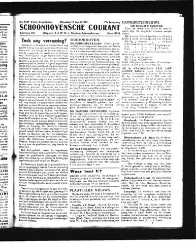 Schoonhovensche Courant 1945-04-17