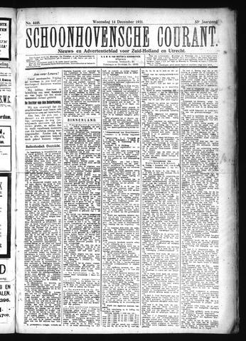 Schoonhovensche Courant 1921-12-14