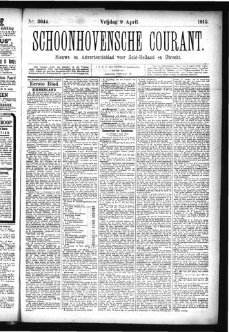 Schoonhovensche Courant 1915-04-09