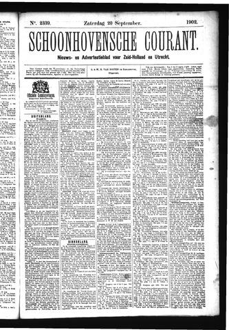 Schoonhovensche Courant 1902-09-20