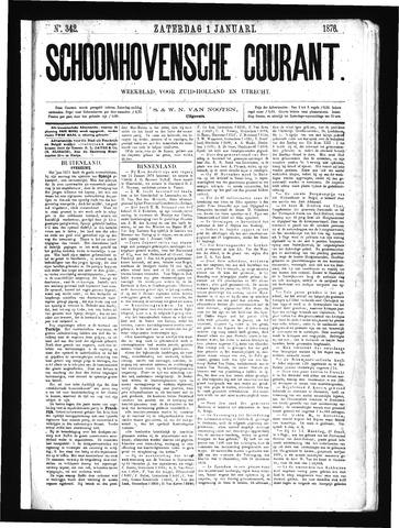 Schoonhovensche Courant 1876-01-01