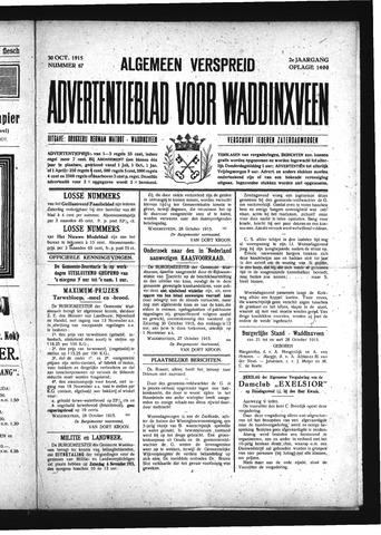 Advertentieblad Waddinxveen 1915-10-30