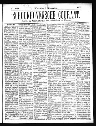 Schoonhovensche Courant 1905-11-08