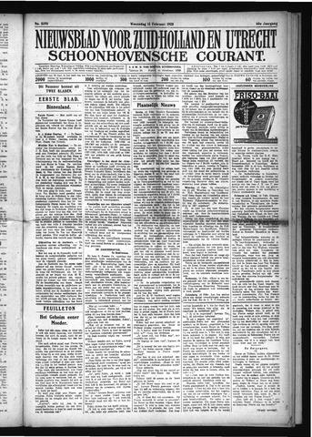 Schoonhovensche Courant 1928-02-15