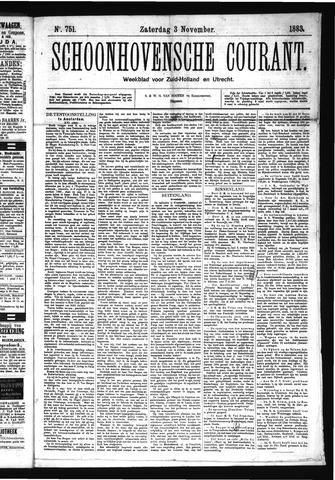 Schoonhovensche Courant 1883-11-03