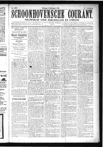Schoonhovensche Courant 1925-02-06