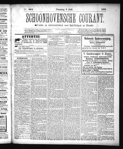 Schoonhovensche Courant 1918-07-09