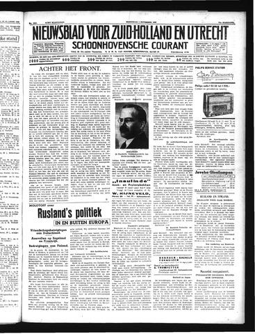 Schoonhovensche Courant 1939-11-01