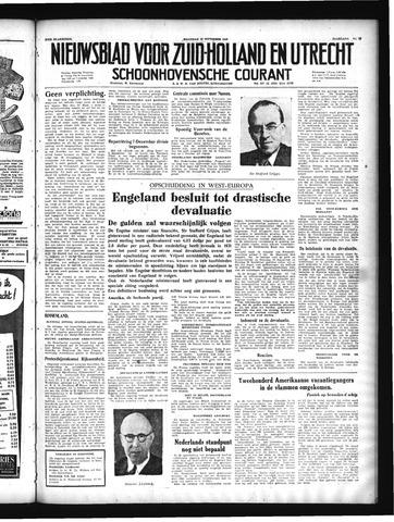 Schoonhovensche Courant 1949-09-19