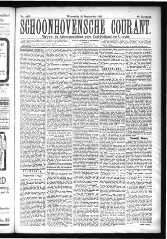 Schoonhovensche Courant 1922-09-20