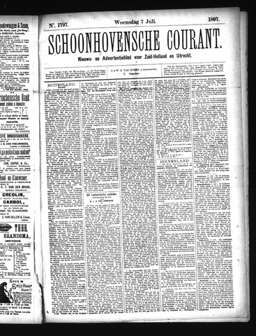Schoonhovensche Courant 1897-07-07