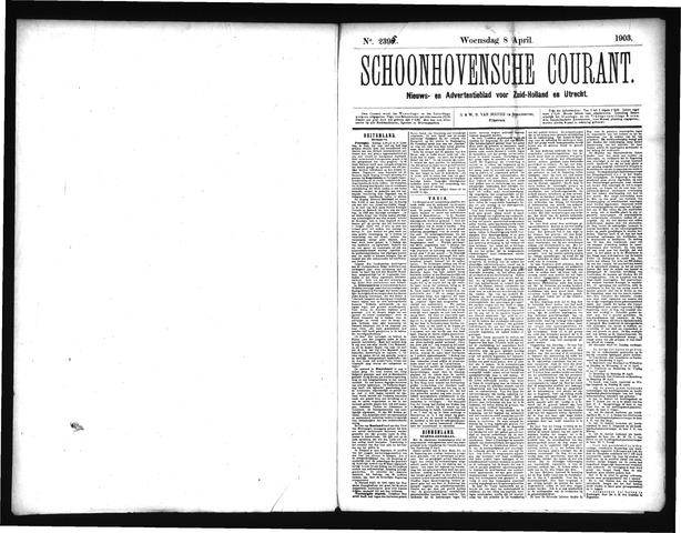 Schoonhovensche Courant 1903-04-08