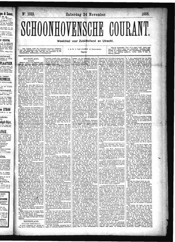 Schoonhovensche Courant 1888-11-24