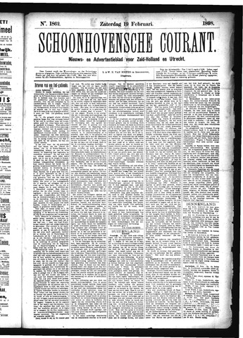 Schoonhovensche Courant 1898-02-19