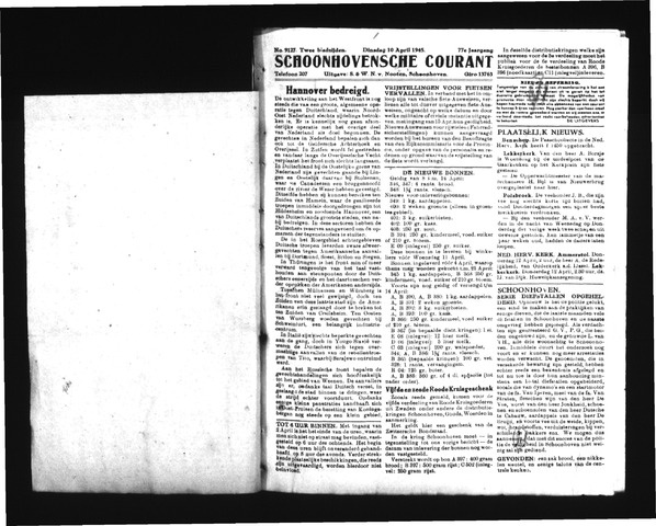 Schoonhovensche Courant 1945-04-10